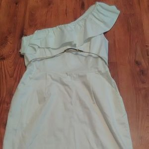 New Directions White One-Shoulder Dress - Size 14